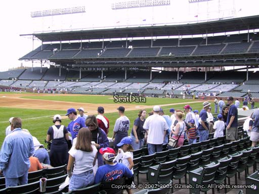 Seat view from section 9 at Wrigley Field, home of the Chicago Cubs