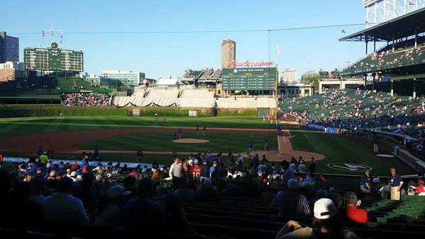 View from the Terrace Box Seats at Wrigley Field
