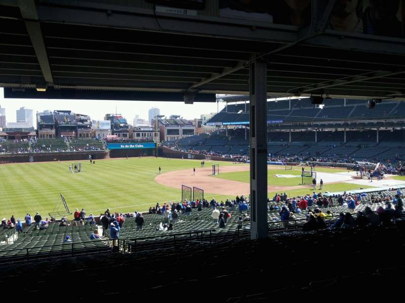 View from the Terrace Reserved Seats at Wrigley Field
