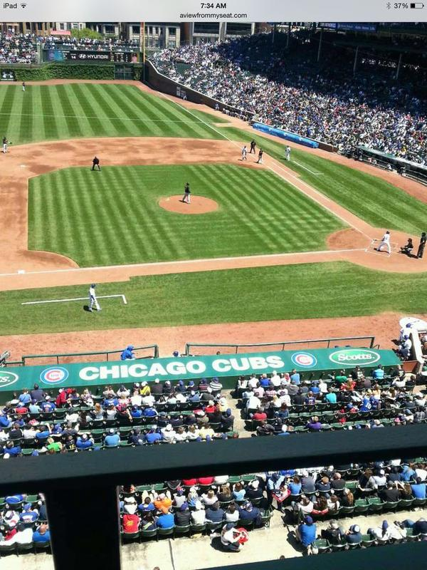 View from the Upper Deck Box at Wrigley Field