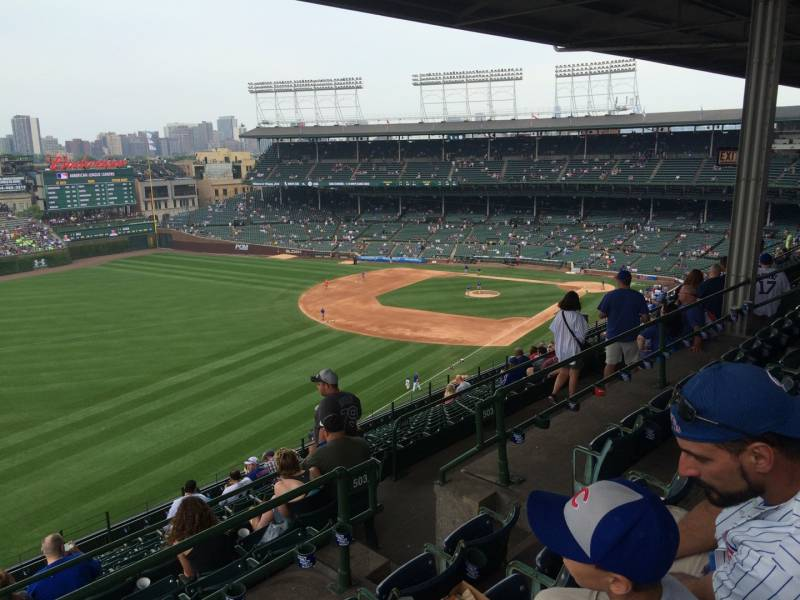 View from the Upper Deck Reserved Seats at Wrigley Field