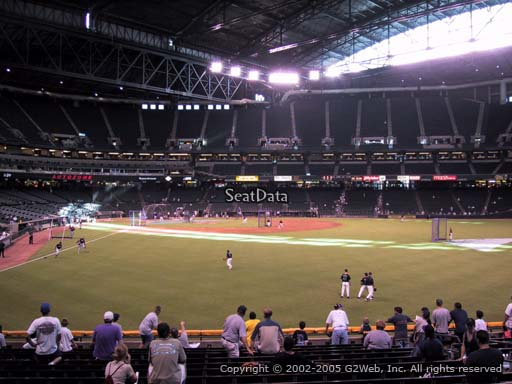 Seat view from section 104 at Chase Field, home of the Arizona Diamondbacks
