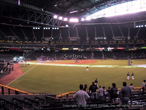 Seat view from section 105 at Chase Field, home of the Arizona Diamondbacks