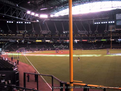 Seat view from section 107 at Chase Field, home of the Arizona Diamondbacks
