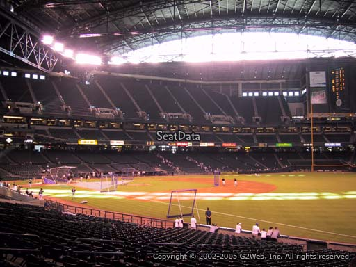 Seat view from section 111 at Chase Field, home of the Arizona Diamondbacks