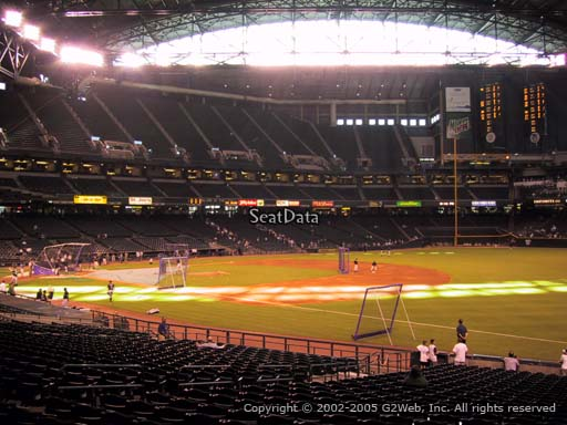 Seat view from section 112 at Chase Field, home of the Arizona Diamondbacks