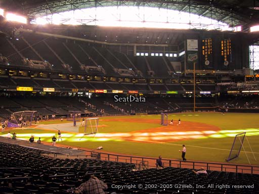 Seat view from section 113 at Chase Field, home of the Arizona Diamondbacks