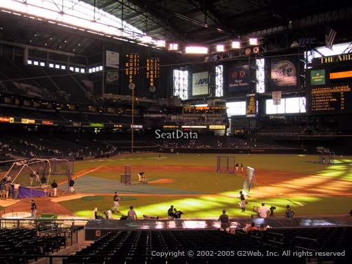Seat view from section 117 at Chase Field, home of the Arizona Diamondbacks