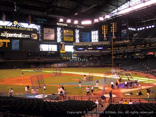 Seat view from section 126 at Chase Field, home of the Arizona Diamondbacks