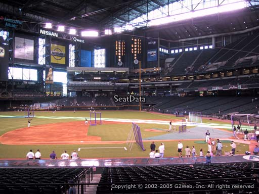 Seat view from section 128 at Chase Field, home of the Arizona Diamondbacks