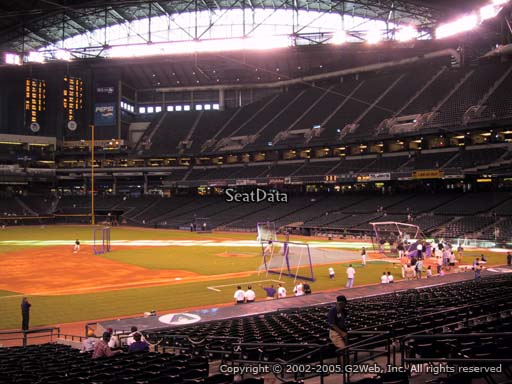 Seat view from section 130 at Chase Field, home of the Arizona Diamondbacks