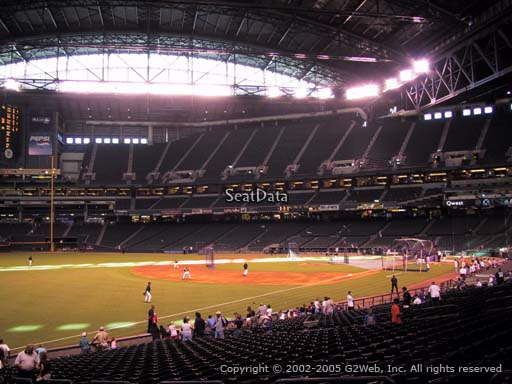 Seat view from section 134 at Chase Field, home of the Arizona Diamondbacks