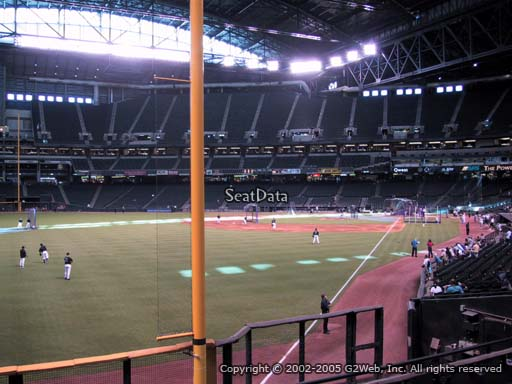 Seat view from section 137 at Chase Field, home of the Arizona Diamondbacks