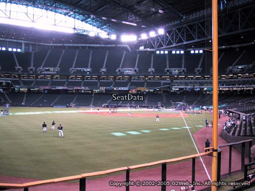 Seat view from section 138 at Chase Field, home of the Arizona Diamondbacks