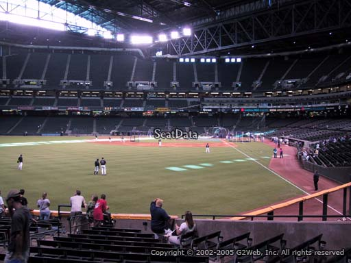 Seat view from section 139 at Chase Field, home of the Arizona Diamondbacks