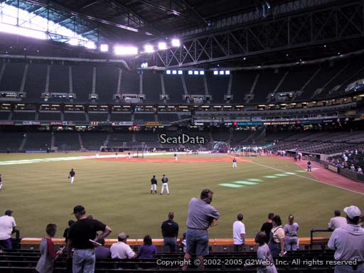 Seat view from section 140 at Chase Field, home of the Arizona Diamondbacks
