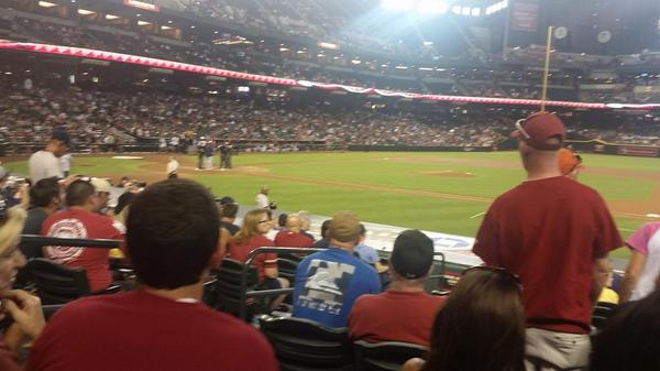 Seat view from section E at Chase Field, home of the Arizona Diamondbacks