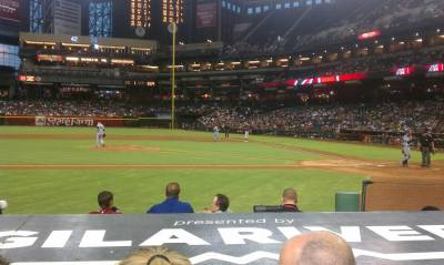 Seat view from section N at Chase Field, home of the Arizona Diamondbacks