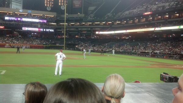 Seat view from section O at Chase Field, home of the Arizona Diamondbacks