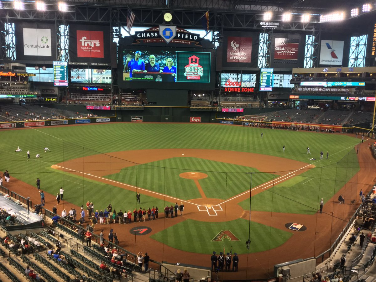 Photo of Chase Field, home of the Arizona Diamondbacks.