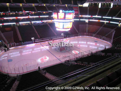 Seat view from section 126 at the Prudential Center, home of the New Jersey Devils