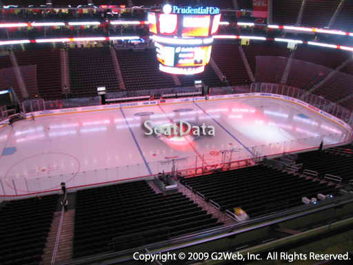 Seat view from section 127 at the Prudential Center, home of the New Jersey Devils