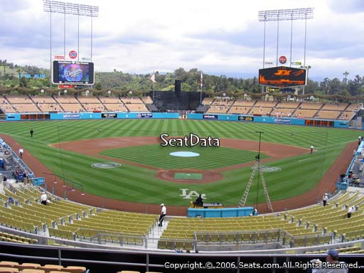 Seat view from loge box section 101 at Dodger Stadium, home of the Los Angeles Dodgers