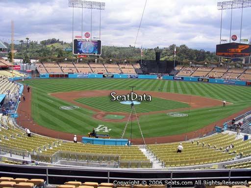 Seat view from loge box section 106 at Dodger Stadium, home of the Los Angeles Dodgers