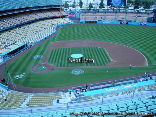 Seat view from reserve section 10 at Dodger Stadium, home of the Los Angeles Dodgers
