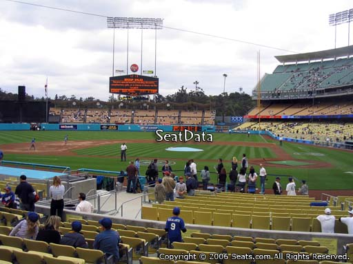 Seat view from field box section 11 at Dodger Stadium, home of the Los Angeles Dodgers