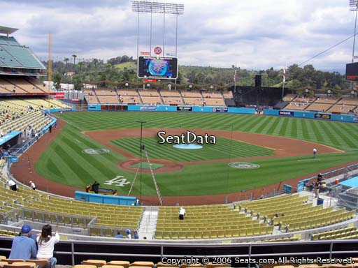 Seat view from loge box section 110 at Dodger Stadium, home of the Los Angeles Dodgers