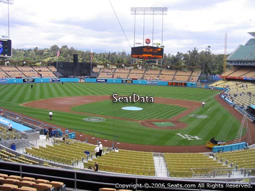Seat view from loge box section 111 at Dodger Stadium, home of the Los Angeles Dodgers