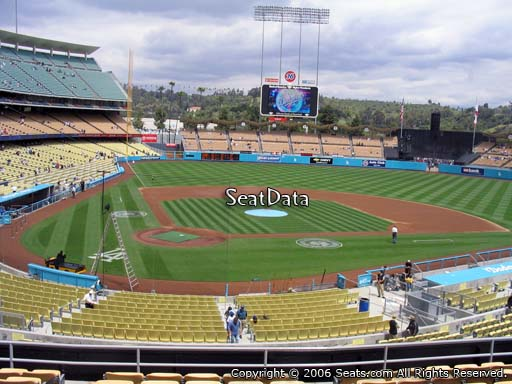 Seat view from loge box section 116 at Dodger Stadium, home of the Los Angeles Dodgers