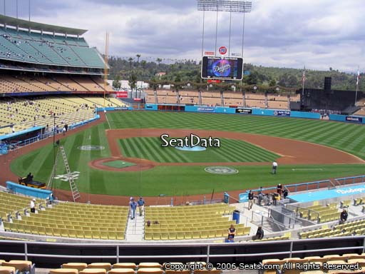 Seat view from loge box section 118 at Dodger Stadium, home of the Los Angeles Dodgers