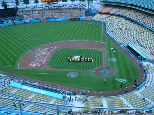 Seat view from top deck section 11 at Dodger Stadium, home of the Los Angeles Dodgers