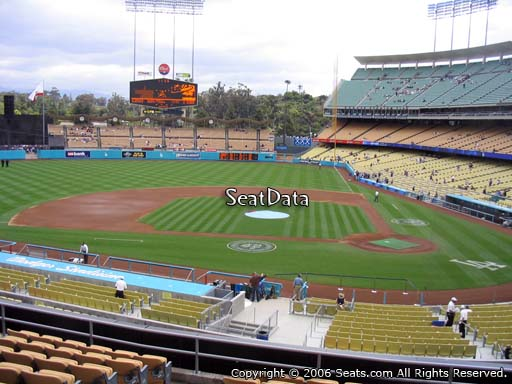 Seat view from loge box section 123 at Dodger Stadium, home of the Los Angeles Dodgers