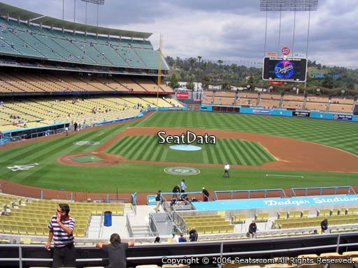 Seat view from loge box section 126 at Dodger Stadium, home of the Los Angeles Dodgers