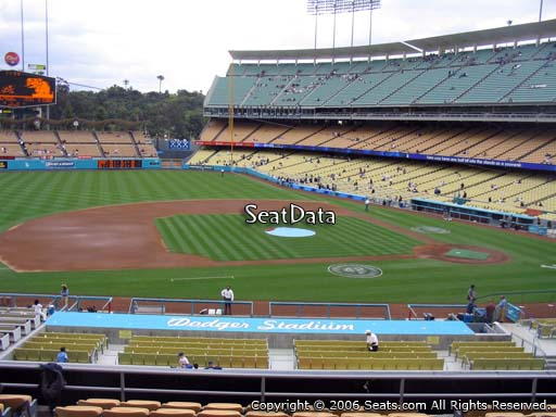 Seat view from loge box section 133 at Dodger Stadium, home of the Los Angeles Dodgers