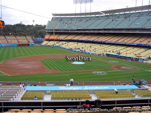 Seat view from loge box section 135 at Dodger Stadium, home of the Los Angeles Dodgers