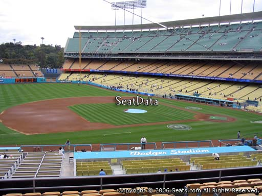 Seat view from loge box section 137 at Dodger Stadium, home of the Los Angeles Dodgers