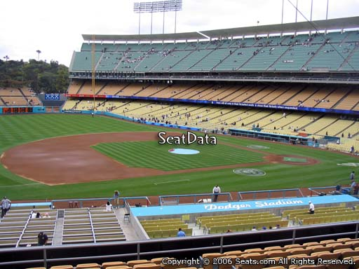 Seat view from loge box section 139 at Dodger Stadium, home of the Los Angeles Dodgers