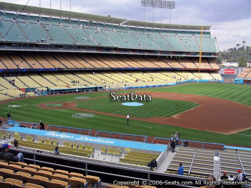 Seat view from loge box section 140 at Dodger Stadium, home of the Los Angeles Dodgers
