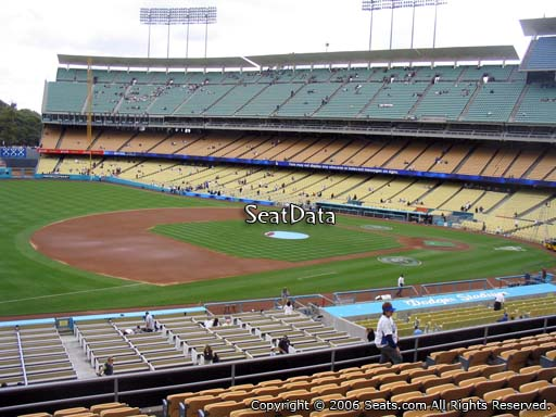 Seat view from loge box section 145 at Dodger Stadium, home of the Los Angeles Dodgers