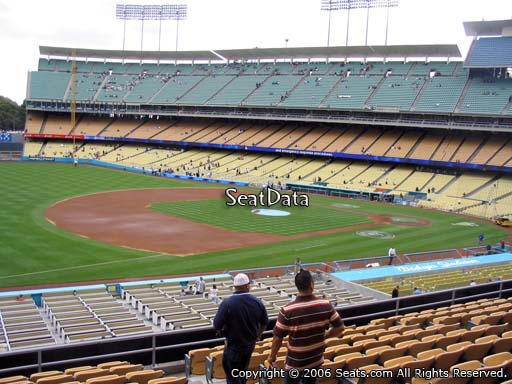 Seat view from loge box section 147 at Dodger Stadium, home of the Los Angeles Dodgers