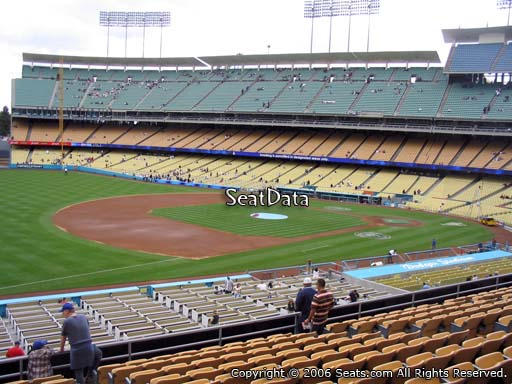 Seat view from loge box section 149 at Dodger Stadium, home of the Los Angeles Dodgers