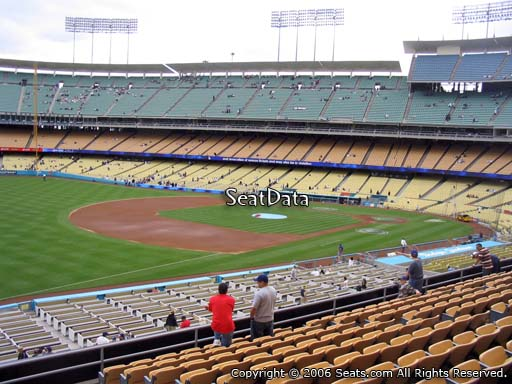 Seat view from loge box section 153 at Dodger Stadium, home of the Los Angeles Dodgers