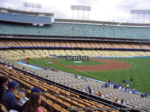 Seat view from loge box section 158 at Dodger Stadium, home of the Los Angeles Dodgers