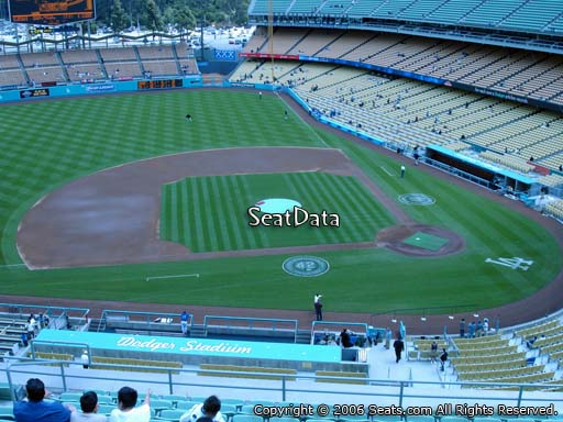 Seat view from reserve section 15 at Dodger Stadium, home of the Los Angeles Dodgers