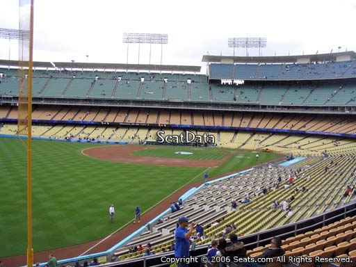 Seat view from loge box section 163 at Dodger Stadium, home of the Los Angeles Dodgers