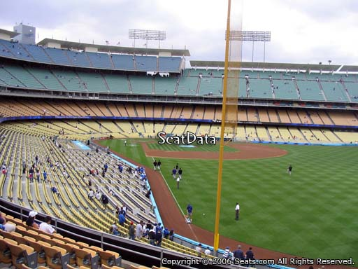 Seat view from loge box section 166 at Dodger Stadium, home of the Los Angeles Dodgers